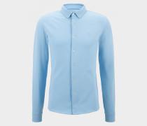 Piqué-Hemd Franz für Herren - Hellblau Piqué-Hemd