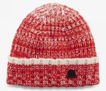 Strickmütze Albi für Man - Rot/Weiß