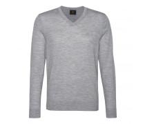 Schurwoll-Pullover BENE für Herren - Silver Mélange Pullover