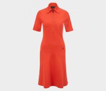 Kleid Jannike für Damen - Rot-Orange Kleid