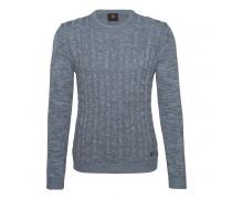 Strick-Pullover HOWARD für Herren - Ocean Mélange Pullover