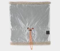 Loop-Schal Trixi für Damen - Silber/Dunkelbeige Loop-Schal