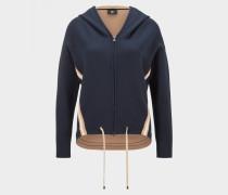 Sweatjacke Franca für Damen - Navy-Blau/Camel Sweatjacke