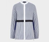 Bluse Devyn für Damen - Blau/Weiß