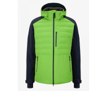 Ski-Daunenjacke Erik für Herren - Light green/Navy blue