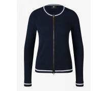 Kaschmir-Strickjacke Irina für Damen - Navy blue Kaschmir-Strickjacke