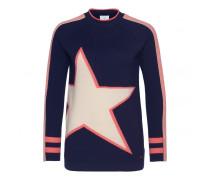 Schurwoll-Pullover HAZEL für Damen - Ink/Multicolor Pullover