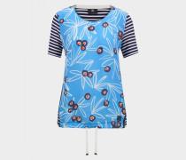 T-Shirt Finna für Damen - Navy-Blau/Hellblau T-Shirt