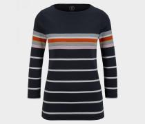 Baumwoll-Pullover Jaime für Damen - Navy-Blau Pullover