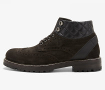Kalbsleder Sneaker New Lech für Herren - Dark brown