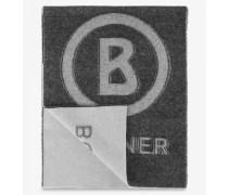 Logo-Schal für Man - Schwarz/Grau