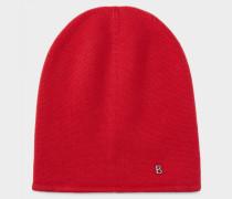 Kaschmir-Mütze Marin für Damen - Rot Kaschmir-mütze