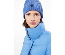 Strickmütze Emira für Woman - Azurblau