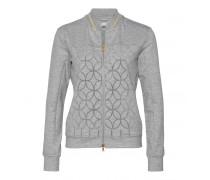 Bomber-Sweat-Jacke KARY für Damen - Gray-Mélange Jacke