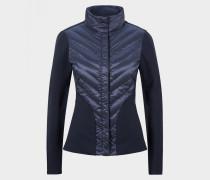 Taillierte Hybrid-Jacke Frida für Damen - Schwarz-Blau Jacke