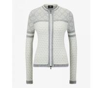Strickjacke Tiana für Damen - Light gray/white Strickjacke