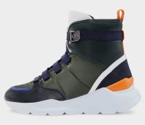 High-Top Sneaker Osaka für Damen - Schwarz/Grün/Weiß Sneaker