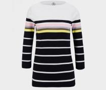 Baumwoll-Pullover Jaime für Damen - Schwarz/Weiß Pullover