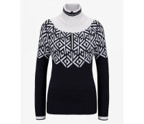 Strickpullover Babette für Woman - Navy-Blau/Off-White