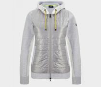 Hybrid-Jacke Yula für Damen - Silber/Grau meliert Jacke