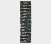 Loop-Schal Lindi für Damen - Grün/Rosa/Schwarz Loop-Schal