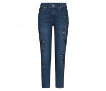 Loose Fit Jeans Alisa für Damen - Dark Denim Blue