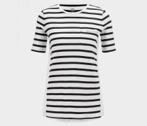 T-Shirt Augusta für Damen - Schwarz/Weiß T-Shirt
