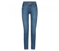 Regular Fit Jeans Greta für Damen - Washed Denim Blue Regular Fit Jeans
