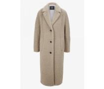Teddyfell-Mantel Vivian für Damen - Beige