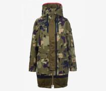 Camouflage-Parka Jade für Damen - Khaki