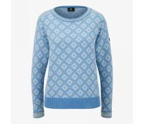 Strickpullover Almara für Damen - Light blue/white