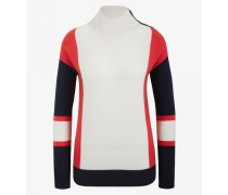Pullover Roana für Woman - Off-White/Rot-Orange/Navy-Blau Pullover