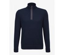 Strickpullover Ed für Herren - Navy-Blau Pullover