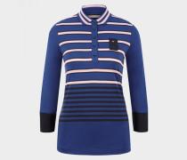 Polo-Shirt Ilana für Damen - Atlantic-Blau/Schwarz/Rosa Polo-Shirt