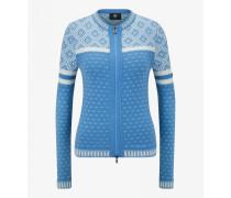 Strickjacke Tiana für Damen - Hellblau/Weiß Strickjacke