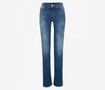 Jeans Grace für Damen - Washed blue denim