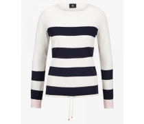 Pullover Eve für Damen - Off-White/Navy striped Pullover