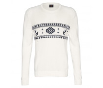 Pullover HOWARD für Herren - White/Navy Pullover