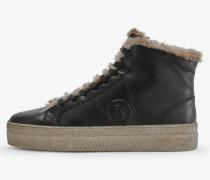 High-Top-Sneaker Denver für Damen - Black Gomma
