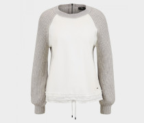 Pullover Moana für Damen - Hellgrau/Off-White Pullover