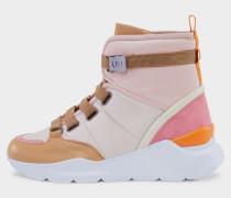 High-Top Sneaker Osaka für Damen - Hellrosa/Beige/Weiß Sneaker