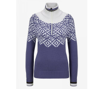 Strickpullover Babette für Woman - Violett/Off-White