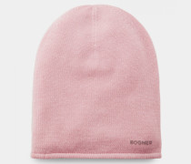 Kaschmir-Strickmütze Marin für Damen - Flamingo pink