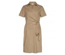 Hemdblusen-Wickelkleid KATIE für Damen - Desert