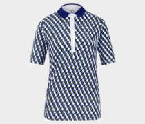 Polo-Shirt Zelma für Damen - Grün/Weiß/Blau Polo-Shirt