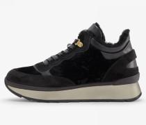 Sneaker Saas Fee für Woman - Black Gomma