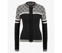 Strickjacke Tiana für Damen - Black/White Strickjacke