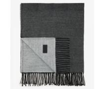 Fransen-Schal für Man - Hellgrau/Dunkelgrau