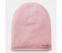 Kaschmir-Strickmütze Marin für Damen - Flamingo-Rosa