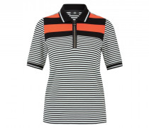 Polo-Shirt Frida - Schwarz/Weiß